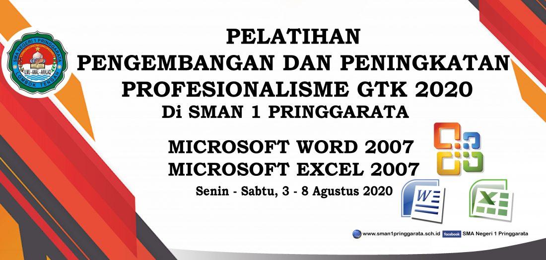 Pelatihan Peningkatan Profesionalisme GTK SMAN 1 Pringgarata 2020