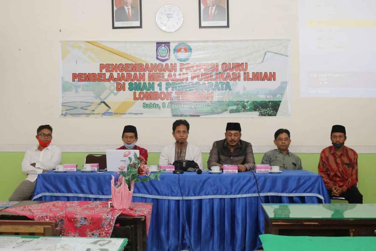 Berikan Pendampingan Karya Ilmiah, Universitas Hamzanwadi Selong Sambangi SMAN 1 Pringgarata