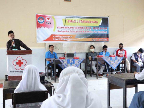 Tumbuhkan Jiwa Kemanusiaan, PMR SMA Negeri 1 Pringgarata Gelar Orientasi Kepalangmerahan.