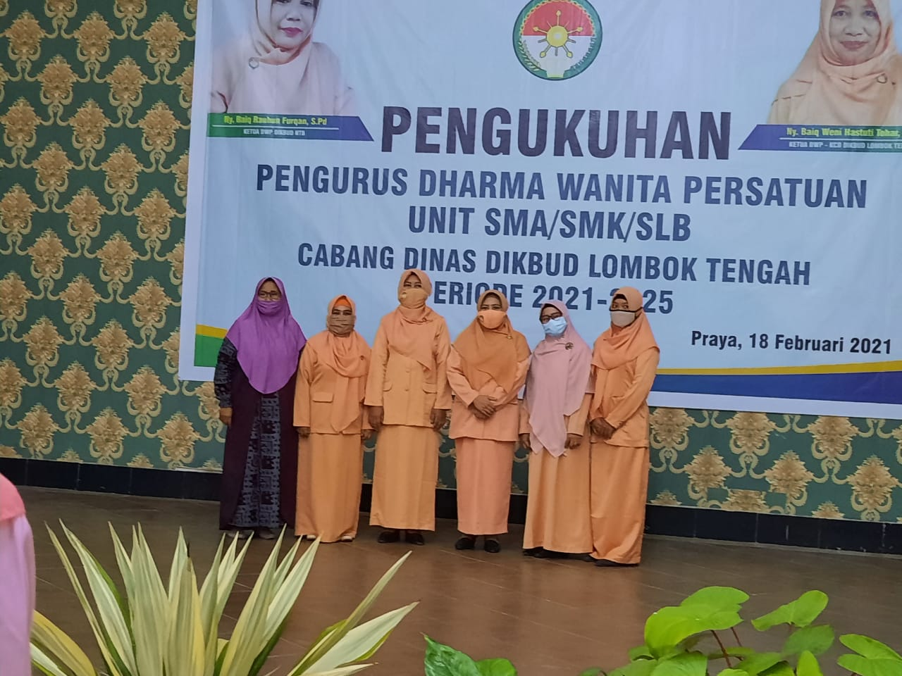 Pengukuhan Pengurus DWP Unit SMA/SMK/SLB Cabang Dinas Dikbud Loteng